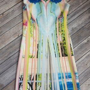 Clover Canyon Dresses - Clover Canyon Printed Neoprene Shift Dress